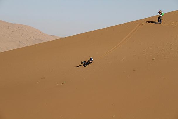 The fast way down, Badain Jaran Desert and Zhangye Danxia Landform, 2013/09