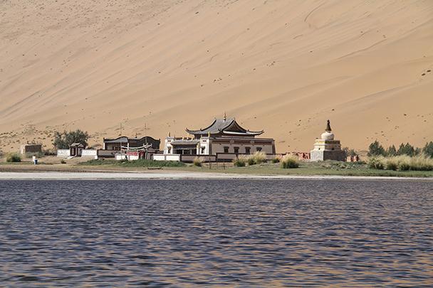 Monastery was built during the Qing Dynasty, around the 17th century, Badain Jaran Desert and Zhangye Danxia Landform, 2013/09