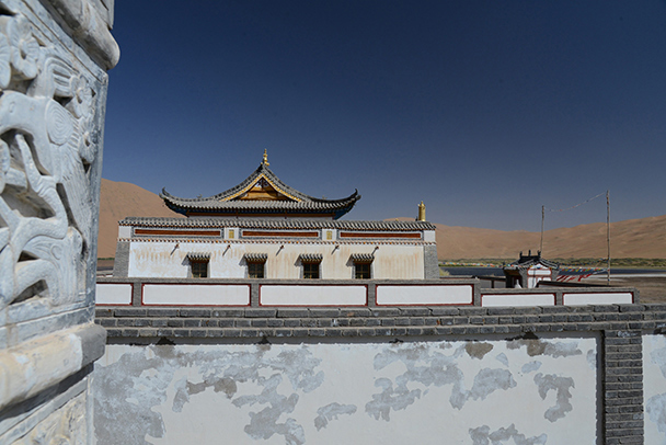 Another side of the monastery, Badain Jaran Desert and Zhangye Danxia Landform, 2013/09