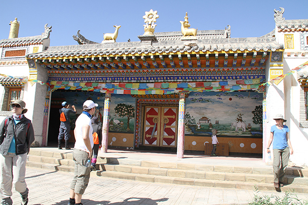The courtyard of the temple, Badain Jaran Desert and Zhangye Danxia Landform, 2013/09