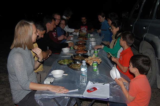 Dinner at the campsite, Beijing Hiker's Journey from the West, 2013/10