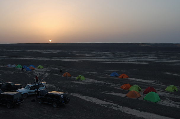 Sunrise at the campsite, Beijing Hiker's Journey from the West, 2013/10