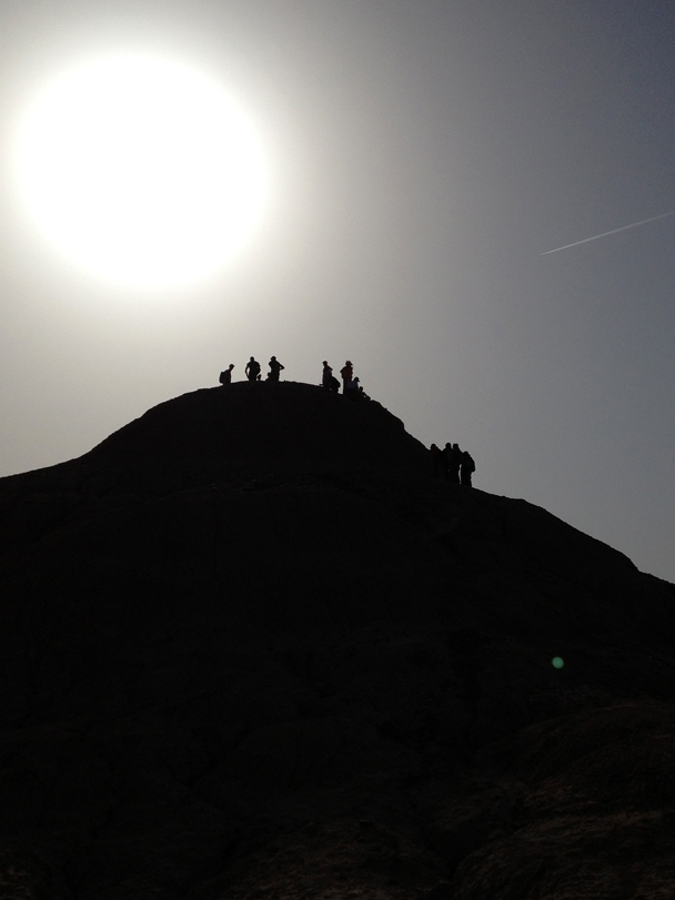 We took a short hike in the desert, climbing up to the top of a small hill, Beijing Hiker's Journey from the West, 2013/10