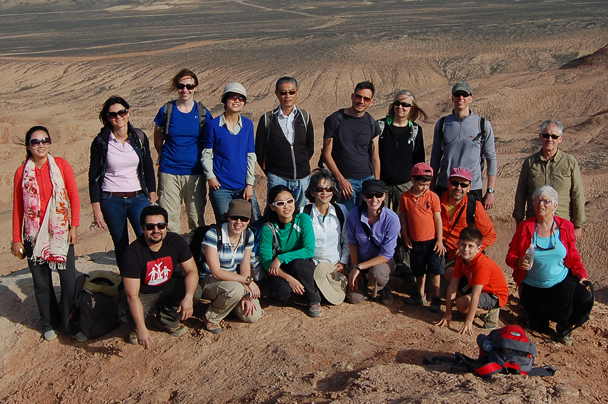 The hiking group atop a hill in the desert, Beijing Hiker's Journey from the West, 2013/10