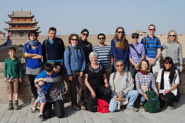 The hiking group at the Jiayuguan Fortress, Beijing Hiker's Journey from the West, 2013/10
