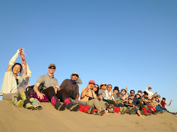 We all made it up to the highest dune, Beijing Hiker's Journey from the West, 2013/10