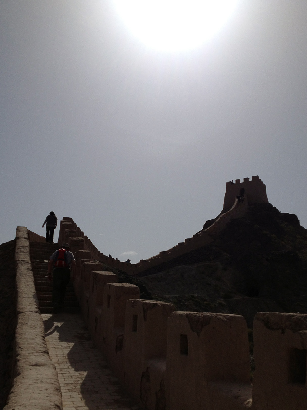 More Han Dynasty Great Wall near Jiayuguan, this time a repaired section, Beijing Hiker's Journey from the West, 2013/10