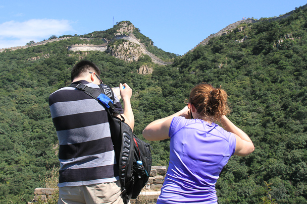 Taking photos of the Great Wall, Beijing Hiker's Switchback Great Wall hike, 2013/09/01