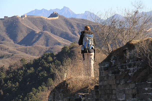 Long views of the Great Wall, Gubeikou Great Wall loop hike, 2013/12/21