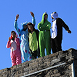 Teletubbies on the Great Wall