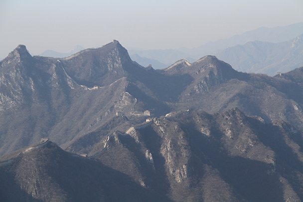 A view of the southern section of the Great Wall Jiankou - Jiankou to Mutianyu Great Wall, 2014/01/12