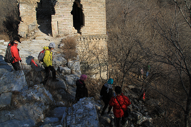 We decided to go for the shortcut! - Jiankou to Mutianyu Great Wall, 2014/01/12