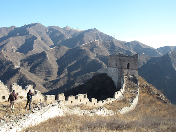 One of the better preserved watch towers on the ridge.- Stone Valley Great Wall, 2014/01/12