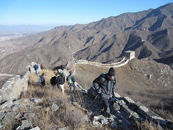 As we hiked higher, the views got even better!- Stone Valley Great Wall, 2014/01/12