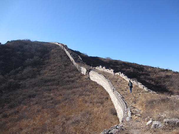 On this stretch the wall is down to just the foundations.- Stone Valley Great Wall, 2014/01/12