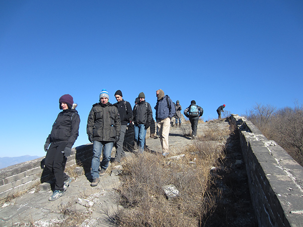 This part of the wall was in decent condition for walking on.- Stone Valley Great Wall, 2014/01/12