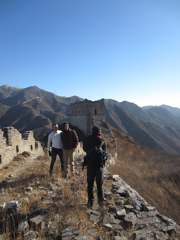 A good spot for a photo.- Stone Valley Great Wall, 2014/01/12