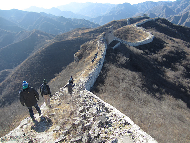 An interesting tower ahead – just one wall left!- Stone Valley Great Wall, 2014/01/12