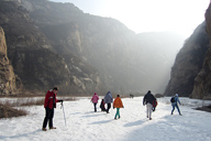 Hikers on the , White River ice hike, 2014/01/19