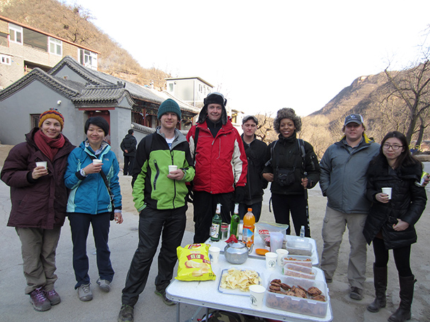 Some snacks and drinks at the end of the hike - Longquanyu Hike, 2014/01/27