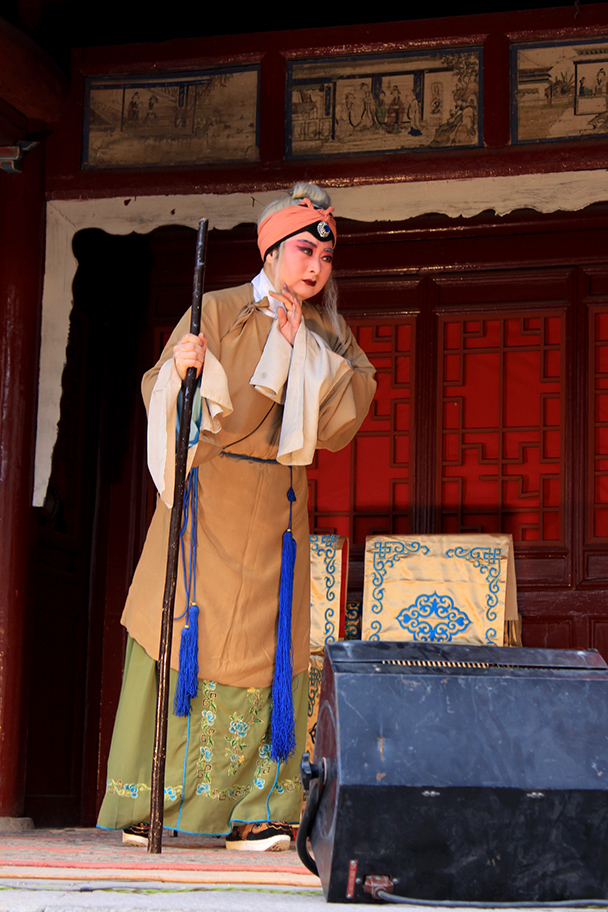 A performance of Chinese Opera, Yu County Ancient Towns and Fortresses overnight, 2014/02