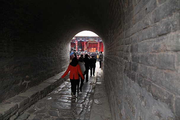 The entrance to the fortress, through thick walls - Yu County CNY 2014 Overnighters, Part 2