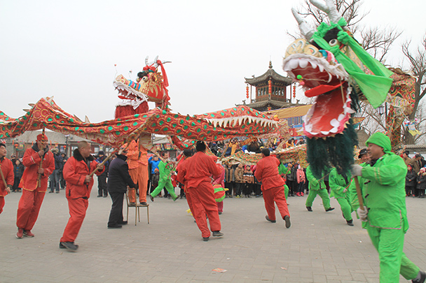 Dragon dancers - Yu County CNY 2014 Overnighters, Part 2