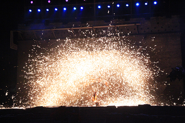 It's said that this type of performance originated as a replacement for fireworks - Yu County CNY 2014 Overnighters, Part 2