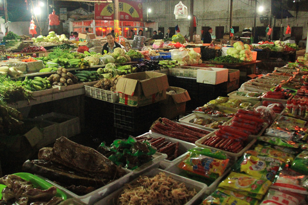 We made a visit to a local market to see what's commonly consumed - Wuyuan County, Jiangxi Province, 2014/03
