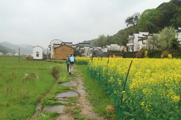 We followed the path along to the next village in the valley - Wuyuan County, Jiangxi Province, 2014/03