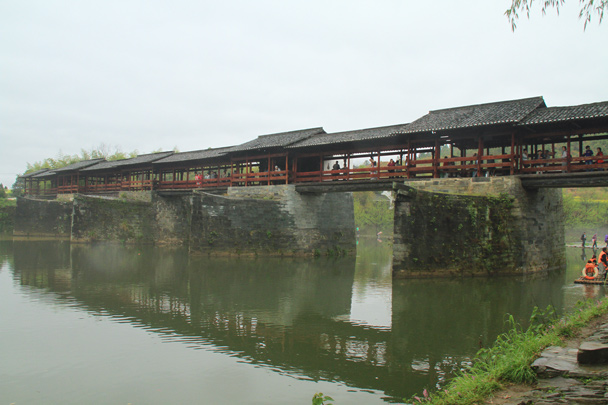 The Rainbow Bridge, here since the Song Dynasty (960-1279 AD) - Wuyuan County, Jiangxi Province, 2014/03