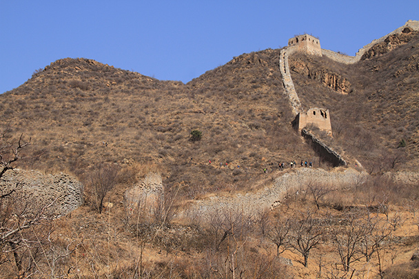 We took a hill trail around the ruined section of wall in the middle of this photo - Bricks in the Wall hike, 2014/03/15