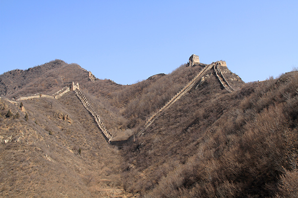After the V-shaped trail, we spotted the V-shaped Great Wall - Bricks in the Wall hike, 2014/03/15