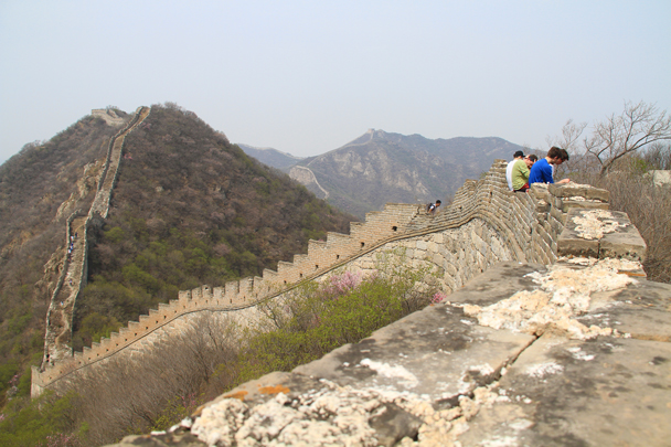 We stopped for a break after conquering a steep section - Switchback Great Wall, 2014/4/12