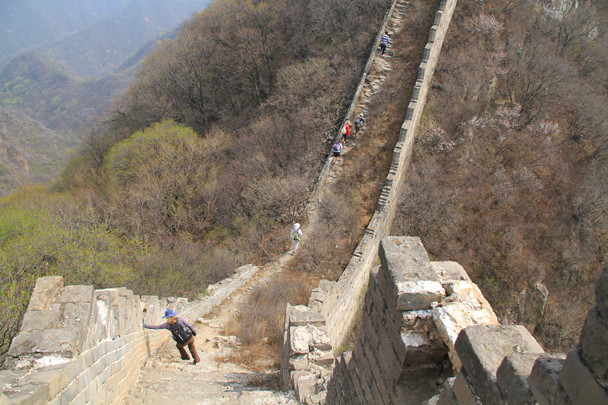 Good exercise with steep ascents and descents - Switchback Great Wall, 2014/4/12