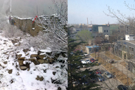 Snow on the Great Wall, spring in the city, 2015/04