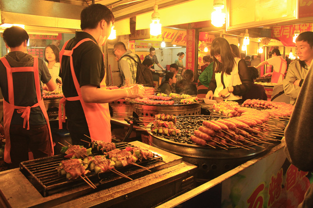 Street food at the night market in Xiamen - Hakka Tulou Clusters and Xiamen, Fujian Province, 2014/04