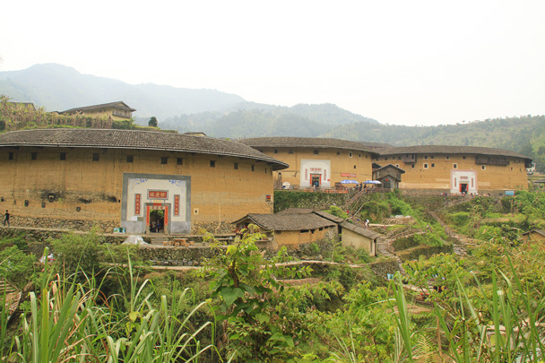 And a view from ground level - Hakka Tulou Clusters and Xiamen, Fujian Province, 2014/04