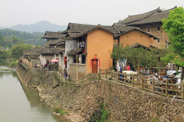 A riverside scene - Hakka Tulou Clusters and Xiamen, Fujian Province, 2014/04