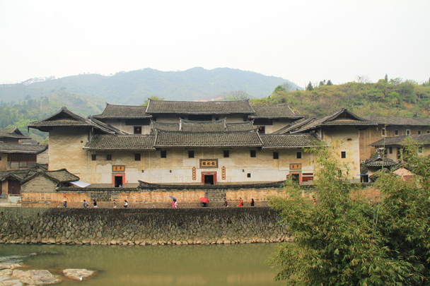 A very large family compound - Hakka Tulou Clusters and Xiamen, Fujian Province, 2014/04