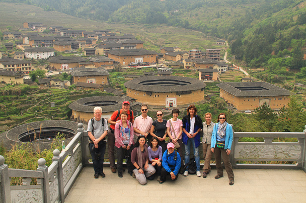 The hiking team at the Chuxi tulou cluster - Hakka Tulou Clusters and Xiamen, Fujian Province, 2014/04