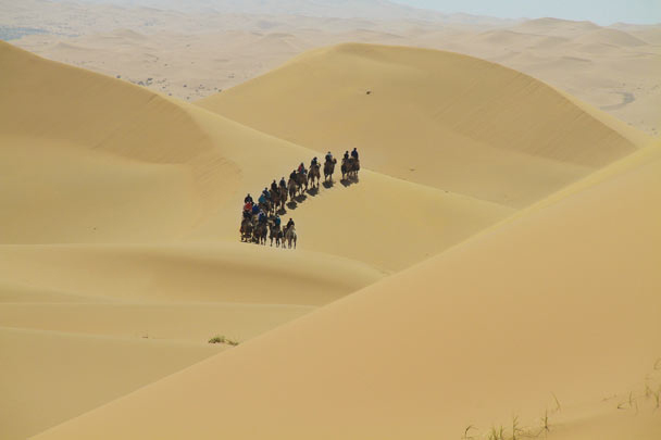 Heading further into the dunes - Alashan Desert, Inner Mongolia, 2014/05