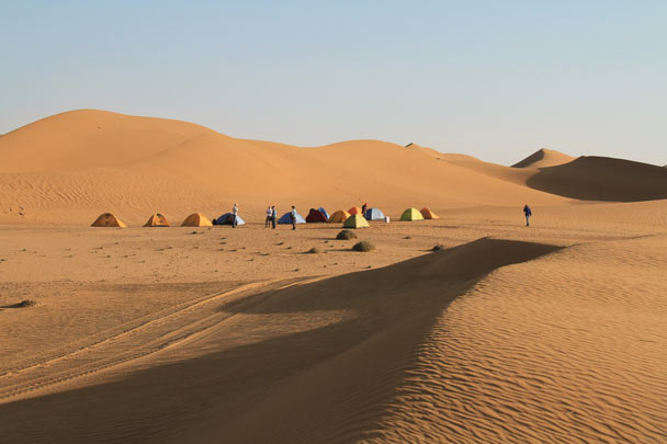 A perfect location for camping in the desert - Alashan Desert, Inner Mongolia, 2014/05