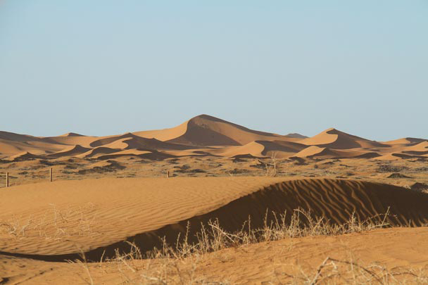 The colour of the dunes changed as the sun went down - Alashan Desert, Inner Mongolia, 2014/05