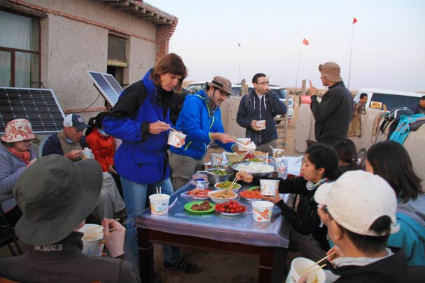 We borrowed the facilities at one of the desert settlements to cook up dinner - Alashan Desert, Inner Mongolia, 2014/05