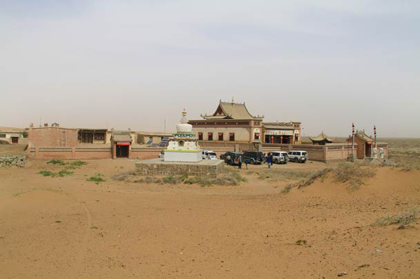 The entrance to the temple - Alashan Desert, Inner Mongolia, 2014/05