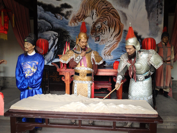 Wax figures of Ming Dynasty generals making plans - Zhangye Danxia Landform and Jiayuguan, Gansu Province, May 2014