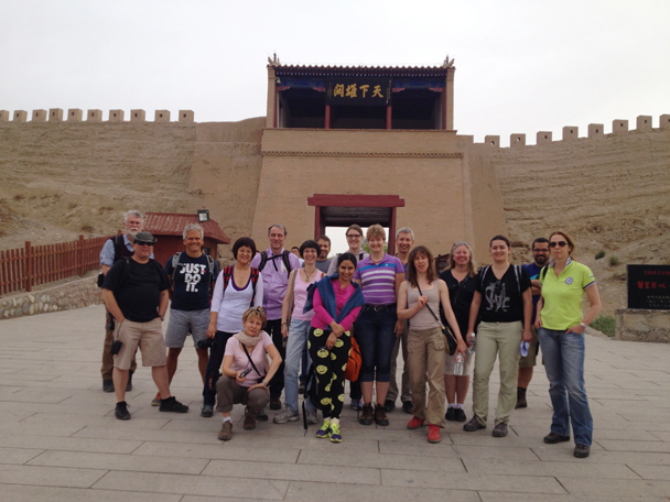 Group photo in the fortress - Zhangye Danxia Landform and Jiayuguan, Gansu Province, May 2014
