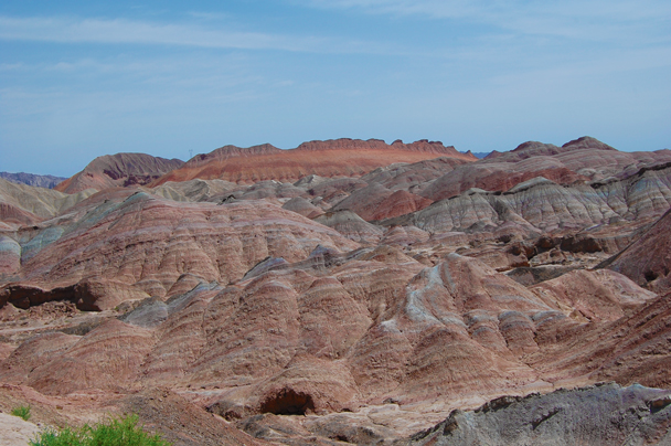 The barren hills in the Zhangye Danxia landform - Zhangye Danxia Landform and Jiayuguan, Gansu Province, May 2014