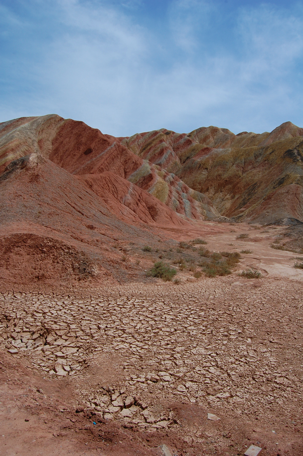 More of the colourful hills - Zhangye Danxia Landform and Jiayuguan, Gansu Province, May 2014